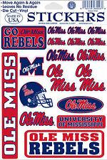 Mississippi Rebels Vinyl Die-Cut Stickers