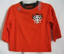 BOYS 18 MONTH ORANGE ROCK OUT GUITAR & SKULL LOUD SHIRT NWT THE CHILDREN'S PLACE