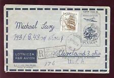 POLAND 1965 AIRMAIL STATIONERY to USA REG.UPRATED SHIPS