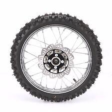 "12mm Black 14"" Front Rim Wheel Tire Disk Brake fr Apollo SSR 125CC CRF Dirt Bike"