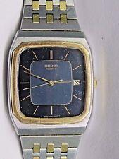 "Vintage Gents Seiko Date Quartz Yellow Gold Plated/ Steel Wrist Watch.  8.35"""