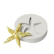 SEA SHELL STARFISH Silicone Fondant Cake Topper Mold Chocolate Sugarcraft Mould