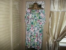 WOMEN'S H&M BARDOT/OFF THE SHOULDER MULTI LONG TOP/DRESS XL 20-22 LOVELY COND