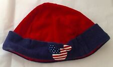 Disney Baby Hat 9-12 months Boys Girls Mickey Mouse Red White