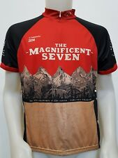 MAGLIA SHIRT CICLISMO THE MAGNIFICENT SEVEN TG.L JERSEY ITALY USA OREGON MB121