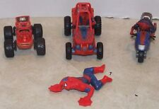 Lot Of Spiderman Action Figures & Vehicles