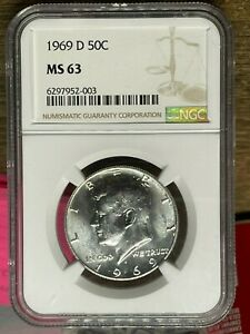 1969 D  Kennedy, NGC Graded MS 63
