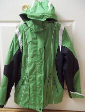 Ladies Hooded Coat-4 in 1-Petite Medium-Black/Green/White-SB Active Brand-NWT!!!