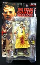 McFarlane Toys Movie Maniacs Bloody Leatherface Variant Action Figure New 1998