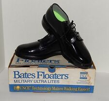 Bates Floaters Ultra Lites Black Leather Original Military Work Dress Sz 8 1/2