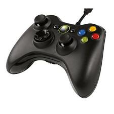 Microsoft Xbox 360 Wired Controller for Gaming Console or PC - Black Grade B