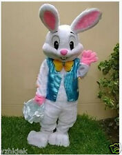 Easter Bunny Mascot Costume Rabbit  Birthday Party Dress Fancy Gift Adult Size A
