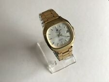 Vintage Tissot Quartz Cal 2030 Gold Plated Men's Watch On Bracelet