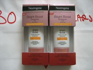 2 Pack Neutrogena Bright Boost Face Moisturizer SPF 30, 1 OZ Each New