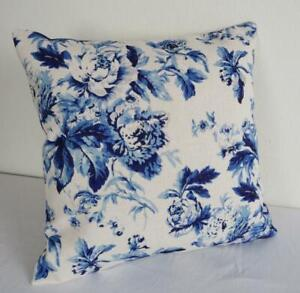 Rambling Cabbage Roses Hamptons Country Linen Look Cushion Cover 45