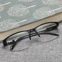 Fashion Unisex Half Frame Transparent Reading Glasses Eyewear +0.25 to +4.0