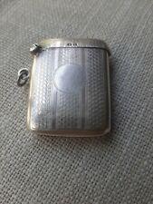 Antique Birmigham Hallmarked sterling silver vests case 1920