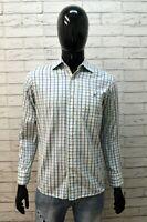 Camicia Da Uomo Lacoste Taglia 38 S Camicetta Shirt Cotone Hemd Camicetta Quadri