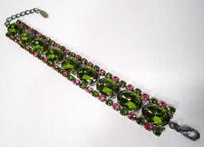 Versilberte Modeschmuck-Armbänder aus Glas