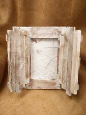 Fair Trade Hand Carved Teak 6 x 4 Photo Frame with Doors - 70097-06