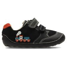 a1b83bdf637b Clarks Tiny Tom First Shoes Size 2.5 F BNIB Navy Leather RRP £26.00 Infant