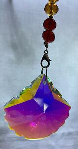 Crystal shape Suncatcher Window Hanging Rainbow Pendant Home Decor Garden