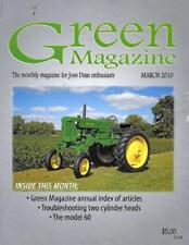John Deere Green Magazine March 2010 Featured Models JD 60 & R Tractors
