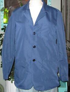 """Best Medical Wear Staff L/S Lab Coat Scrubs Uniform 30"""" Navy Blue Sz XS to 6X"""
