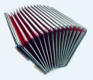 """RED Italian Titano 120 Bass Button Accordion - Bellows Only- Approx.15.5""""x7.25"""""""