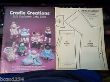 CRADLE CREATIONS SOFT SCULPTURE BABY DOLLS CC-2 1982 w PATTERN SHEET SEWING DOLL