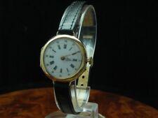 18kt 750 Gold Handaufzug Damenuhr Armbanduhr / Umgebaute Taschenuhr