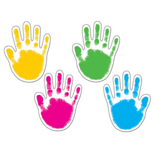 Assorted Colorful Cut-Outs, Handprints