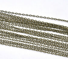 10M Bronze Tone HOTSELL Flat Link-Opened Chains 3x2mm