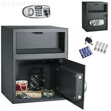Cash Drop Safe Security Vault Depository Money Slot Lock Office Lock Box Digital