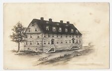 Real Photo Postcard:Drawing of GemeinHaus 1741,First House Moravian Bethlehem Pa