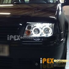 1999-2005 VW Jetta MK4 MK-4 Dual Halo Projector LED BORA Chrome Headlights