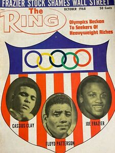 Cassius Clay Floyd Patterson Frazier THE RING Olympics Magazine October 1968