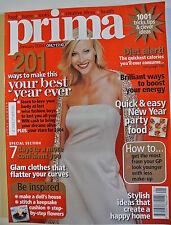 Prima Magazine January 2004. Knit a pretty shawl. 7 days to a more confident you