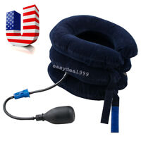 Inflatable Cervical Neck Back Traction Neck Head Stretcher Pain Relief Collar US