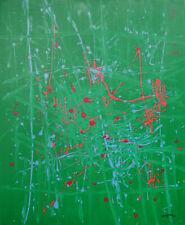 """ANTONIO CORPORA 100x81 olio su tela """" Itinerario """" 1975 doppia pubblicazione"""