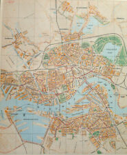 Rotterdam Netherlands City Map Vintage 1950 Dutch Language