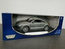 2007 AUDI TT COUPE 1/18 DIE CAST MODEL SILVER BY MOTOR MAX