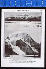 Rocky Mountains in the United States & Canada  - 1950s Print