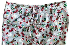 Jammies for your Families Cuddl Duds Men's XL Christmas Pajama Pants Pockets