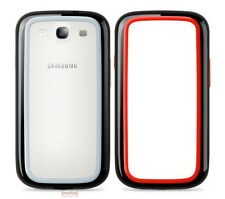 2 X Belkin Samsung Galaxy S3 Surround Bumper Case Cover Red/Black & Black/Grey