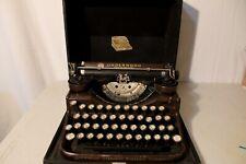 Beautiful Vintage 1940's Underwood 4-Bank Typewriter Woodgrain Glass Keys