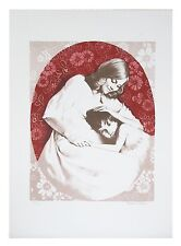 """Mother and Child"" by David Shalev Lithograph on Paper Lim. Ed. of 200 w/ CoA"