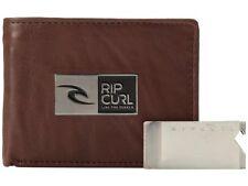 RIP CURL Bottle Clip Awatu wallet set, Genuine leather Brown Brand new in box