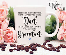 FATHERS DAY GRANDAD FATHER DAD COFFEE MUG TEA CUP PERSONALISED PRESENT GIFT