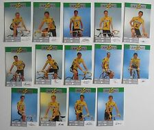 Equipe ONCE 1989, 14 Cartes Cyclisme
